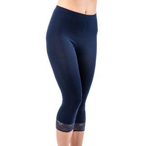 HERMKO 5722 Damen Capri- 3/4 - Leggings mit Spitze – Bild 6
