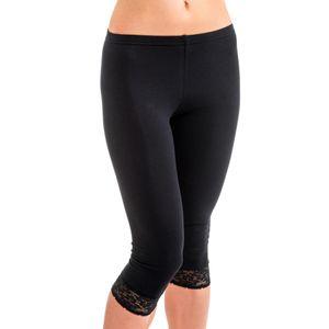 HERMKO 5722 Damen Capri- 3/4 - Leggings mit Spitze – Bild 2