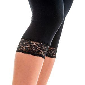 HERMKO 5722 Damen Capri- 3/4 - Leggings mit Spitze – Bild 3