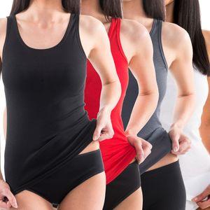 HERMKO 61310 Damen Funktions Wäsche Unterhemd Shirt Tank Top, ideal für Sport und Freizeit, bioaktive Ausrüstung