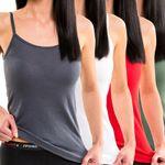 Damen geripptes Trägerhemd mit Spaghettiträgern verschiedene Farben