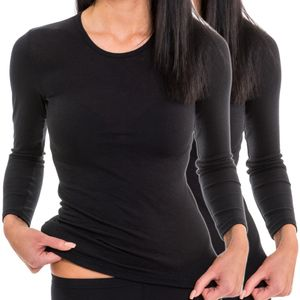 HERMKO 61830 2x Damen langarm Funktionsunterhemd Shirt für Sport und Freizeit – Bild 1