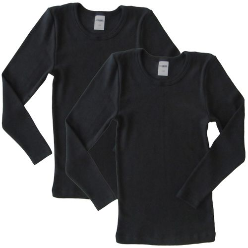 HERMKO 62830 Pack of 2 children's functional wear long-sleeved shirt for sport and everyday