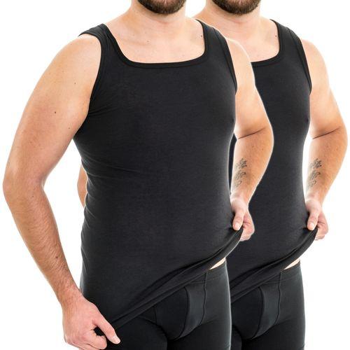 HERMKO 63027 Pack of 2  men's tank top functional underwear extra long