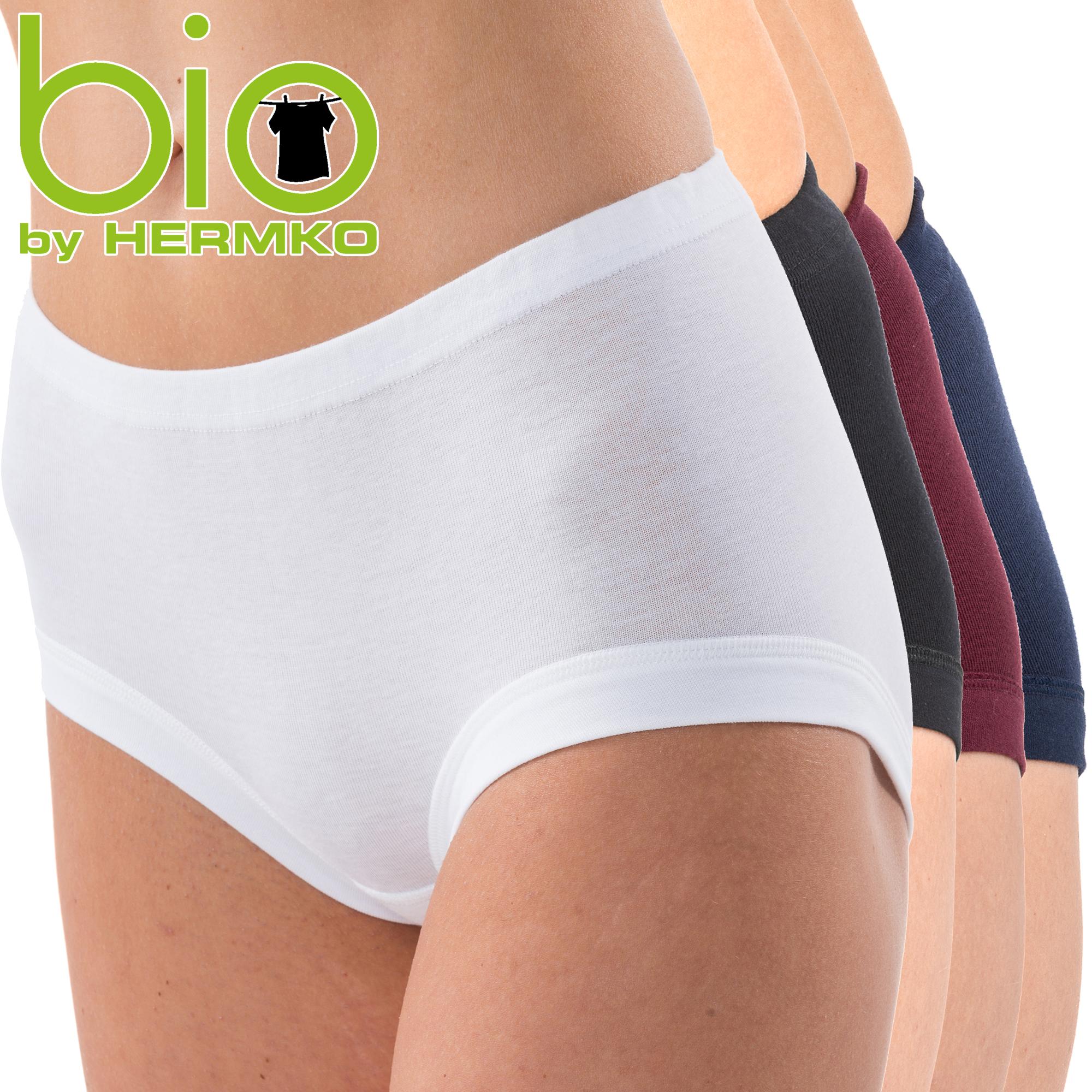 HERMKO 9114001 Damen Taillenslip aus Bio-Baumwolle