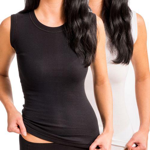 HERMKO 99384910  round-neck, corset vest, no side-seam