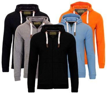 Indicode Kelvin Sweat Zip Jacke Jacket Hoodie Pullover Kapuzenpullover  – Bild 1