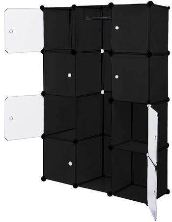 Kesser® Kleiderschrank DIY Schrank Regalsystem Steckregal Garderobe Schuhregal – Bild 9