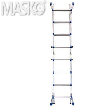 Masko® Aluminium Teleskopleiter Multifunktionsleiter Aluleiter Klappleiter Anlegeleiter  – Bild 13