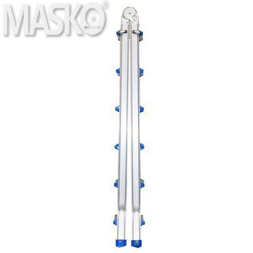 Masko® Aluminium Teleskopleiter Multifunktionsleiter Aluleiter Klappleiter Anlegeleiter  – Bild 5