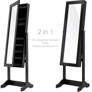KESSER® Standspiegel  Spiegel Schmuckschrank Spiegelschrank Schmuckkasten – Bild 4