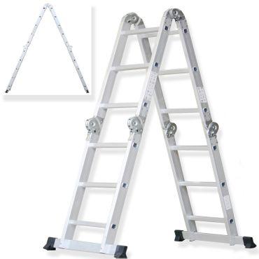 Masko® 6in1 Mehrzweckleiter ✓ ALU ✓ Anlegeleiter ✓ Klappleiter | Stehleiter | Aluminium | verschiedene Modelle - auch mit Plattform – Bild 9