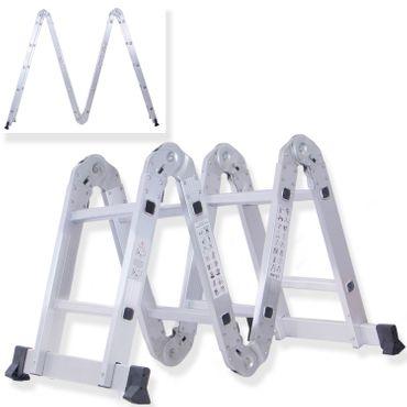 Masko® 6in1 Mehrzweckleiter ✓ ALU ✓ Anlegeleiter ✓ Klappleiter | Stehleiter | Aluminium | verschiedene Modelle - auch mit Plattform – Bild 3