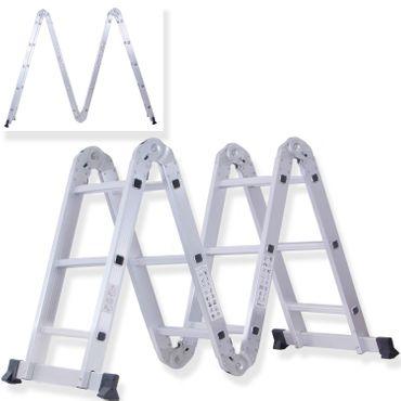 Masko® 6in1 Mehrzweckleiter ✓ ALU ✓ Anlegeleiter ✓ Klappleiter | Stehleiter | Aluminium | verschiedene Modelle - auch mit Plattform – Bild 11