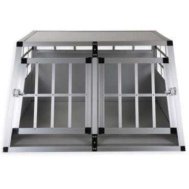LovPet® Alu Hundebox Alubox Hundetransportbox ✓ Transportbox ✓ Reisebox ✓ Haustiere | Stabil | Größe: M - XXL | Farbe: Grau / Silber – Bild 6