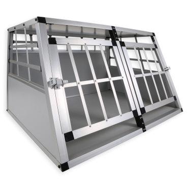 LovPet® Alu Hundebox Alubox Hundetransportbox ✓ Transportbox ✓ Reisebox ✓ Haustiere | Stabil | Größe: M - XXL | Farbe: Grau / Silber – Bild 1