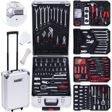 Masko® 949 Werkzeugkoffer Werkzeugkasten Werkzeugkiste Werkzeug Trolley ✔ Profi ✔ 949 Teile ✔ Qualitätswerkzeug  – Bild 1