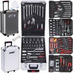 Masko® 849 Werkzeugkoffer Werkzeugkasten Werkzeugkiste Werkzeug Trolley ✔ Profi ✔ 849 Teile ✔ Qualitätswerkzeug  001