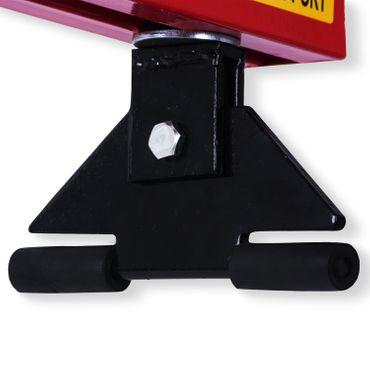 Masko® Motorbrücke ✓ Motorheber ✓ Motorhalter ✓ Kotflügeltraverse | bis 500 kg | Modell: Rot – Bild 4