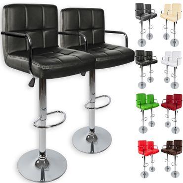 Kesser® 2er Set Barhocker Barstuhl Tresenhocker Küchenhocker Loungesessel Esszimmerstuhl mit Lehne – Bild 1