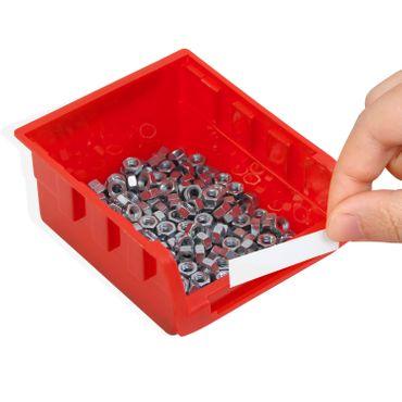 Masko® Stapelboxen Wandregal 32tlg Box Sichtlagerkästen Schüttenregal Steckregal – Bild 2