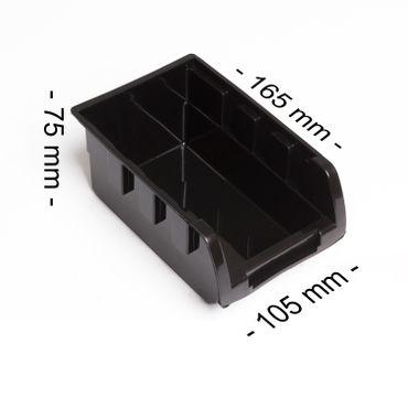 Masko® Stapelboxen Wandregal 32tlg Box Sichtlagerkästen Schüttenregal Steckregal – Bild 12
