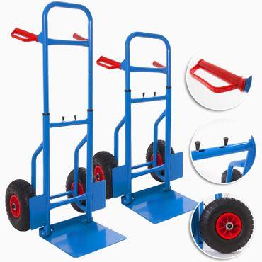 Masko® Sackkarre klappbar 200kg mit Luftbereifung Transportkarre Stapelkarre NEU – Bild 1