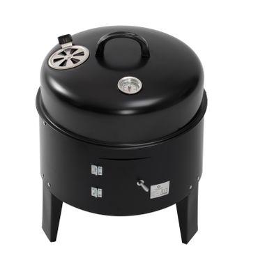 KESSER 3in1 BBQ Holzkohlegrill Grill Smoker Räuchertonne Räuchergrill Grilltonne – Bild 5