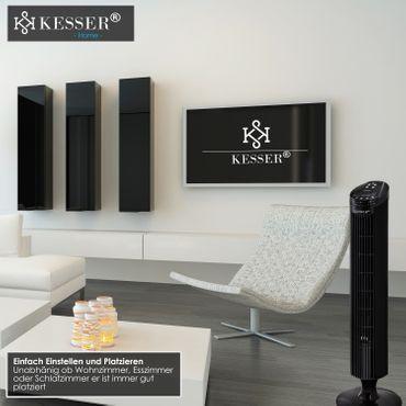 KESSER Turmventilator FERNBEDIENUNG Ventilator LED Display Standventilator Klimaanlage – Bild 7