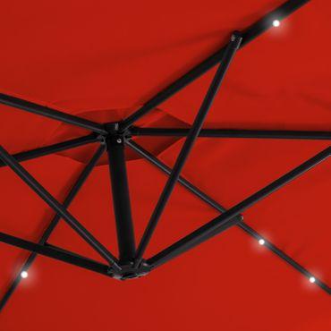 KESSER® Alu Sonnenschirm LED Ø300cm Ampelschirm + Handkurbel Schirm Gartenschirm – Bild 18