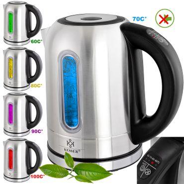 KESSER® 1,7 Liter Edelstahl Wasserkocher 2200W Temperaturwahl Warmhaltefunktion – Bild 1