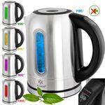 KESSER® 1,7 Liter Edelstahl Wasserkocher 2200W Temperaturwahl Warmhaltefunktion 001