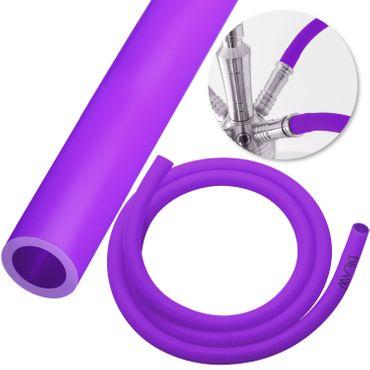 DILAW Shisha Silikonschlauch für Shishas Aluminium , Edelstahl | Schlauch für Wasserpfeife Hookah | Flexibel | 1,50m Lang – Bild 8