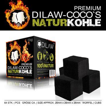 DILAW® Shisha Kohle Premium Kokosnuss Naturkohle für Shisha & BBQ  bis zu 120 Minuten Brenndauer – Bild 3