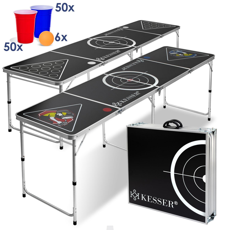 KESSER® Beer Pong Tisch Set - inkl. 100 Becher (50 Rot   50 Blau) 0e5a0be0d