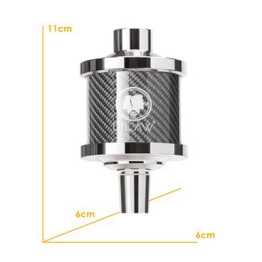 DILAW® Shisha DX1 Carbon Molassefänger Edelstahl Wasserpfeife, Vorkühler-Aufsatz für(Schliff 18/8) Zubehör – Bild 16