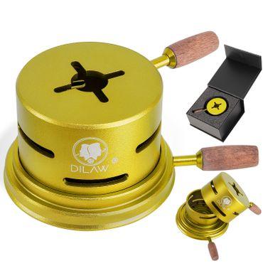 DILAW® Shisha UNO Smokbox | mit nur 1 Kohle | Kamin-aufsatz Aluminium Alu | Passt auf beinahe jeden Kopf | spart Kohlen | Länger Rauchen | für Tabakkopf Kohle Aufsatz | – Bild 2