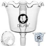 DILAW® Shisha Ice Catcher vorkühler  - 18.8er Schliff  | Glas |  Hookah  | Kombinierbar mit allen Shisha Modelle mit 18.8er Schliff | 001