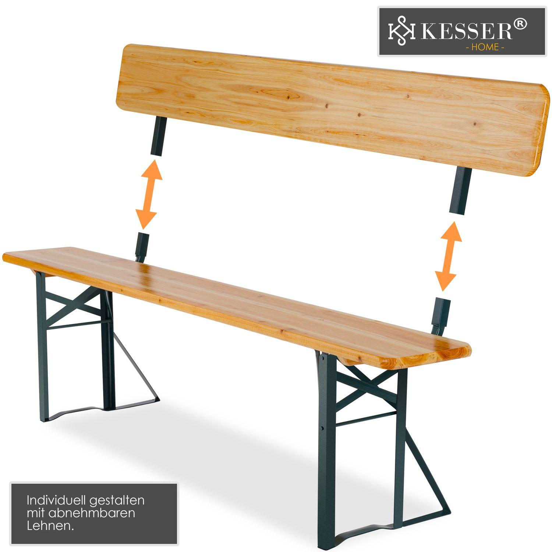 Kesser Bierzeltgarnitur Mit Lehne Breiter Tisch 170x70cm 3
