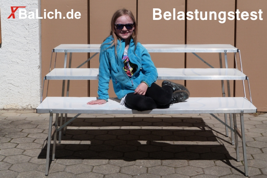 Belastungstest eines 3er Stufentischs mal anders | BaLich.de