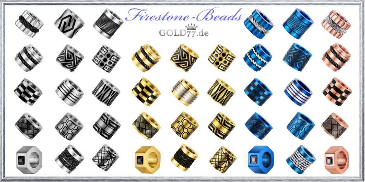 Edelstahl Firestone-Beads
