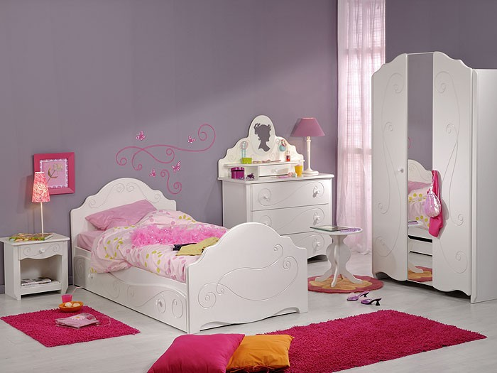 kinderzimmer anne 1 7 tlg wei schrank kinderbett nachttisch kommode wohnbereiche kinder. Black Bedroom Furniture Sets. Home Design Ideas