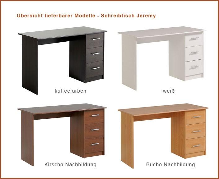 Schreibtisch Bürotisch Jeremy 3 121x75x55cm Kaffeefarben