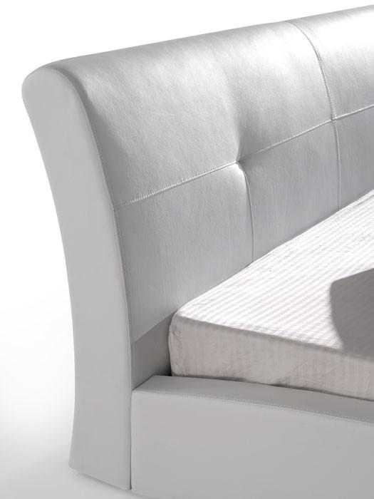 2e543d99bf Polsterbett weiß Bett 180x200 Kunstleder Bettgestell Kunstlederbett Amadeo  – Bild 7