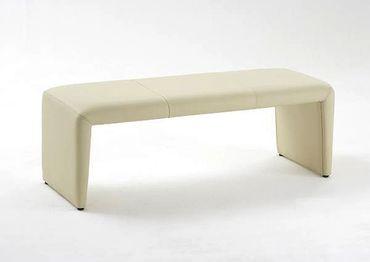 Sitzbank Lederbank Laney 180 cm Echtleder elfenbein Bank ohne Lehne