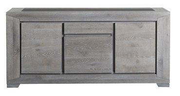 Sideboard, Anrichte Heros 7, Eiche grau, 195x91x48cm, 3-türig