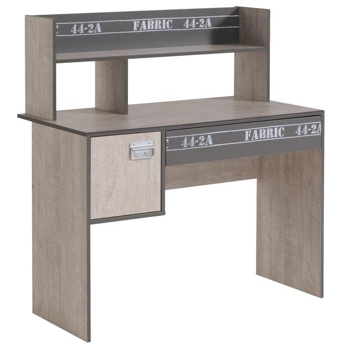 Schreibtisch Fabien 8 108x114x56cm Esche Grau Regalaufsatz