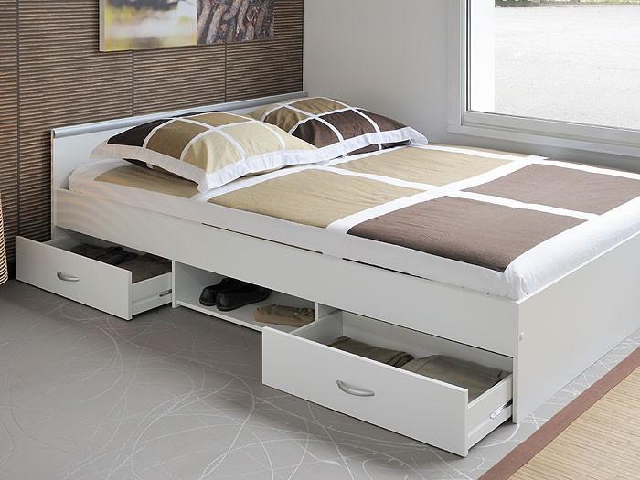 Jugendbett Leader 3.1, 140x200cm, Bett mit 2 Bettkasten, weiss ...