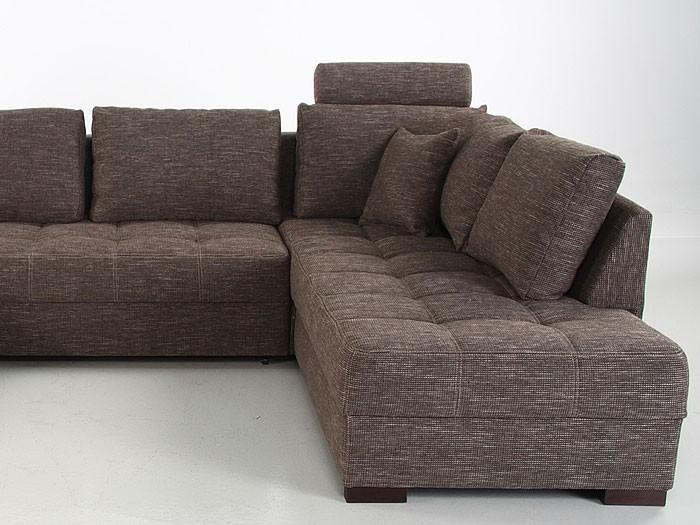 wohnlandschaft antigua braun 357x222x162cm bettfunktion sofa, Design ideen