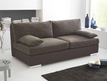 Boxspring Schlafsofa Somerset braun, 202x106cm Dauerschläfer Sofa